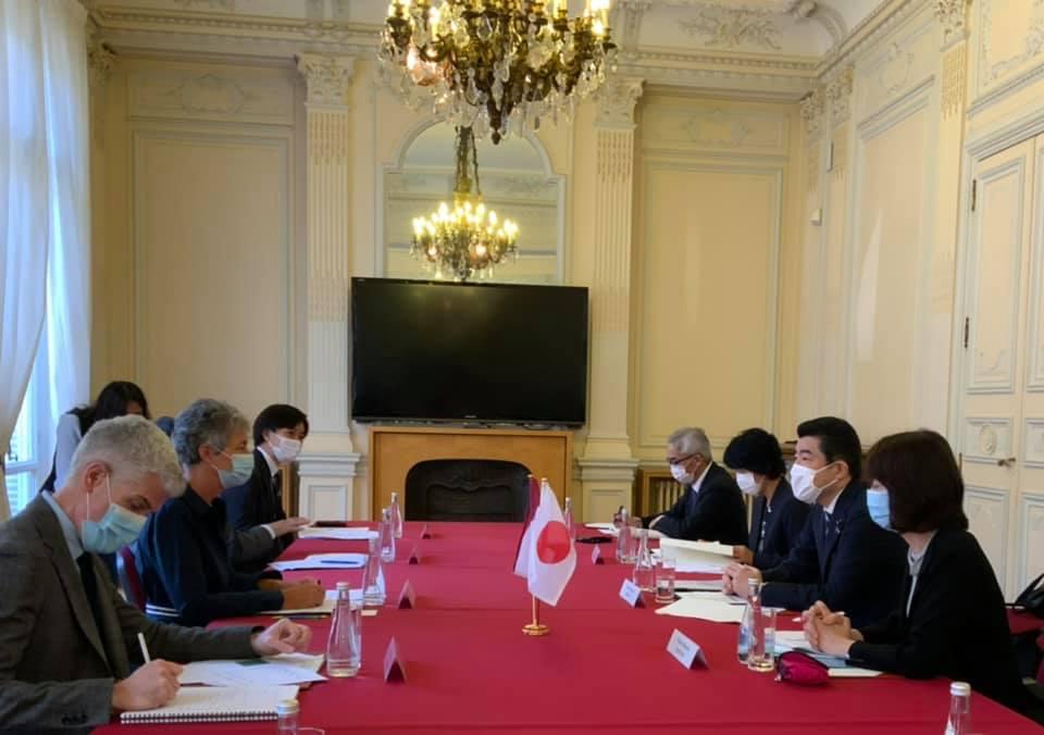 フランスのドゥノルマンディー大臣との会談